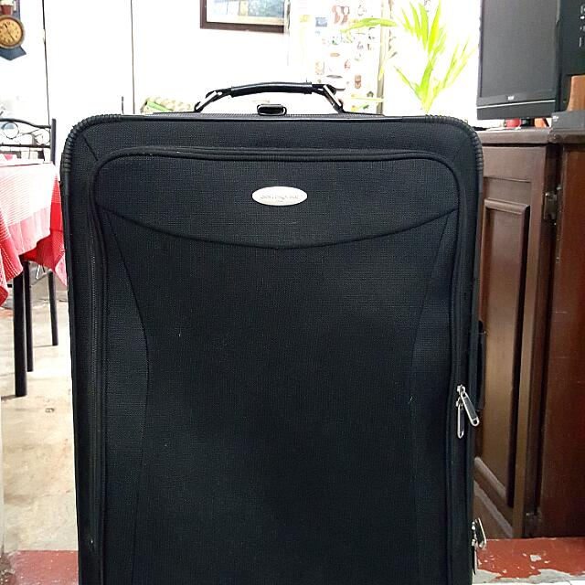 Black Authentic Samsonite Luggage (Expandable)