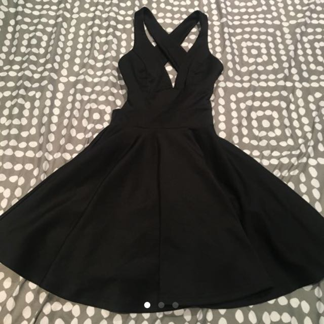 Black Low Cut Party Dress