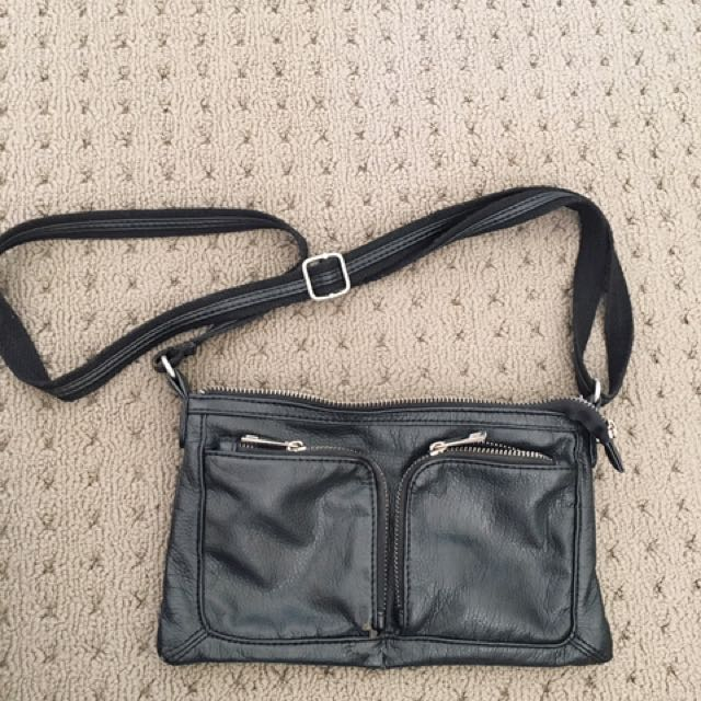 Black Pleather Bag