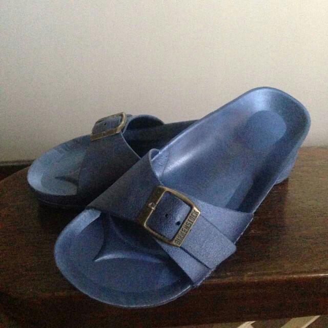 Blue Birkenstock Free Shipping For MM