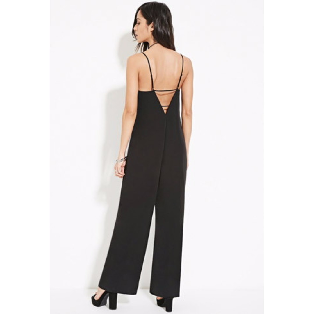 BN Forever 21 Black Sexy Back Jumpsuit
