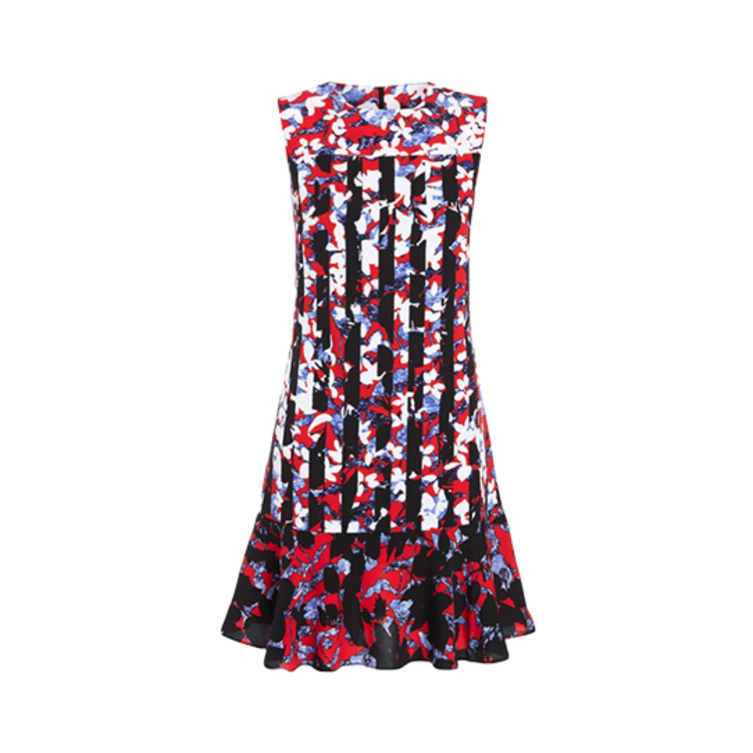 BNWOT Peter Pilotto Red Floral Sleeveless Dress
