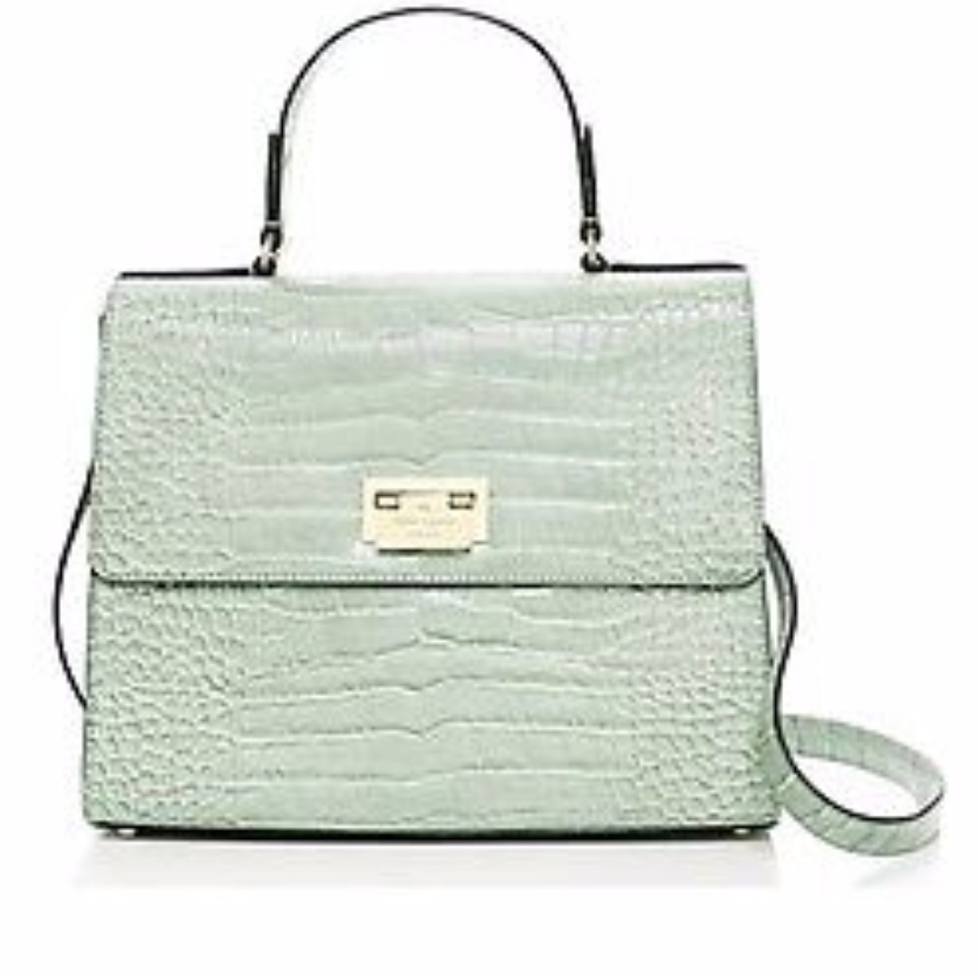"BNWT Authentic Kate Spade ""Knightsbridge Doris"" Croc Leather Handbag"