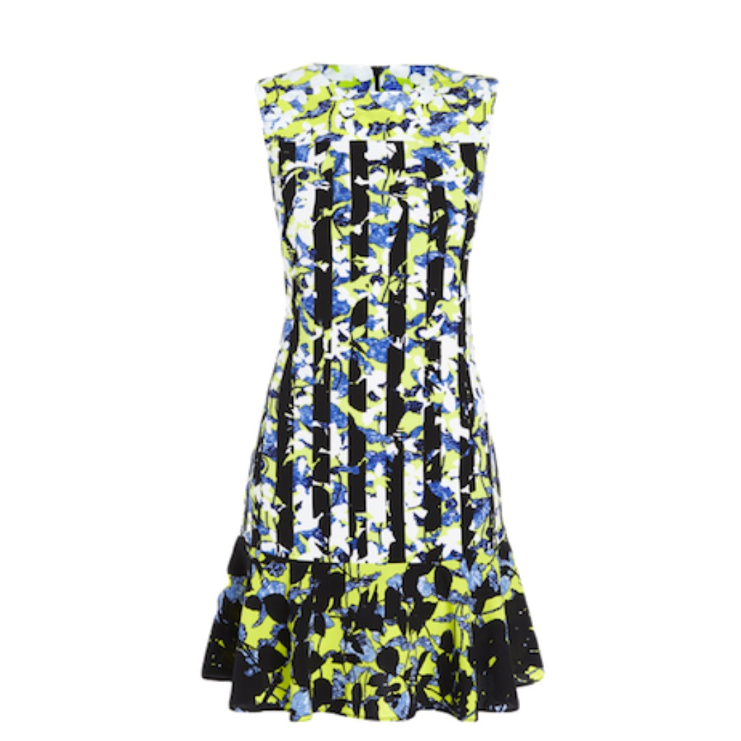 BNWT Peter Pilotto Yellow Floral Sleeveless Dress (Medium)