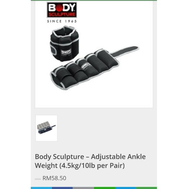 ed3c0724ff78 Body Sculpture – Adjustable Ankle Weight (4.5kg 10lb per Pair ...
