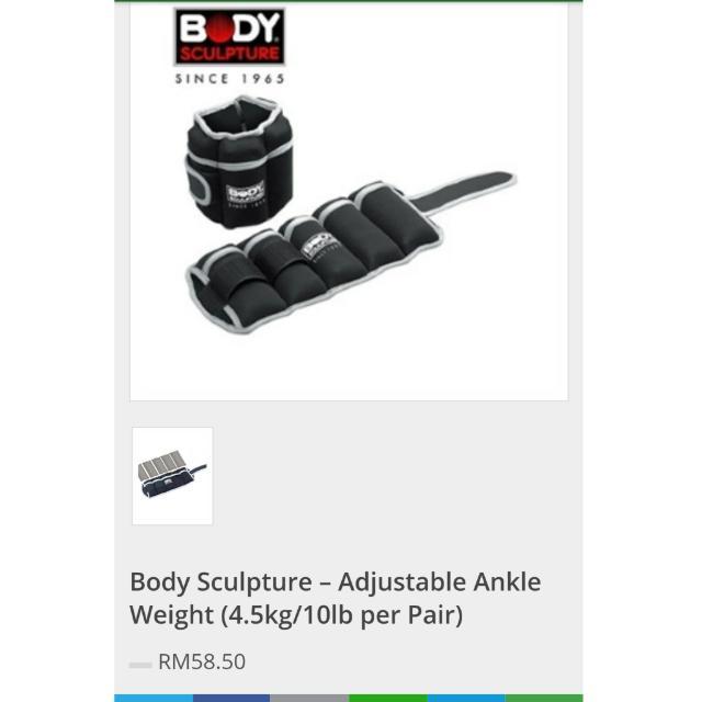 34578abdfe8212 Body Sculpture – Adjustable Ankle Weight (4.5kg 10lb per Pair ...