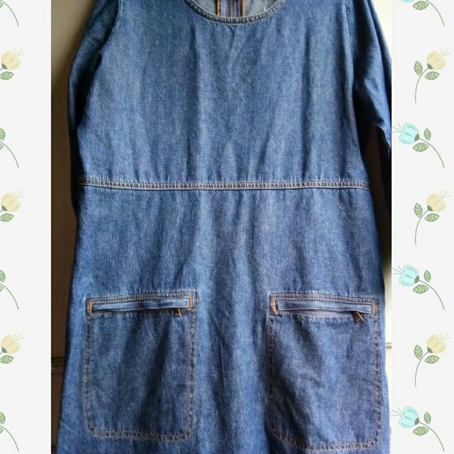 BRAND NEW FOREVER 21 DENIM DRESS
