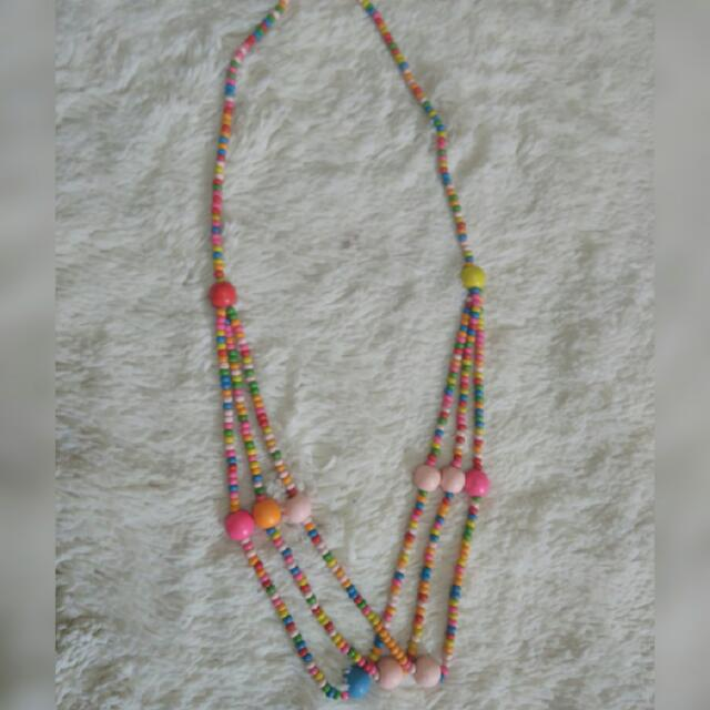 CANDY NECKLACE / KALUNG KAYU WARNA WARNI