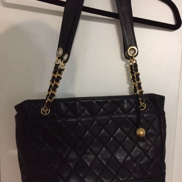 Chanel 復古包 黑金款 正品