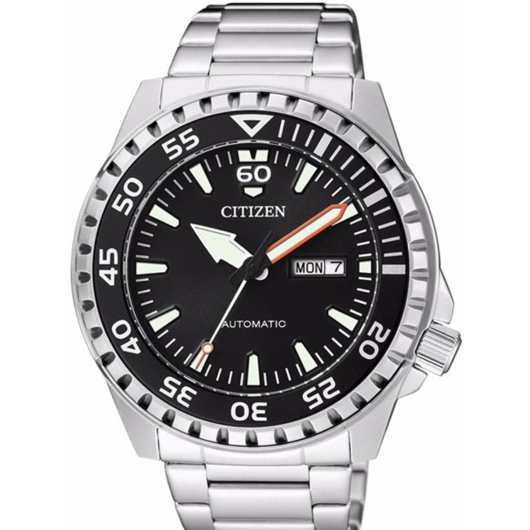 d157f81d9a5 CITIZEN AUTOMATIC SPORT WATCH WITH STAINLESS STEEL BRACELET NH8388 ...