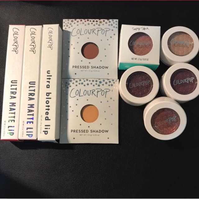Colourpop Eyeshadow And Lips