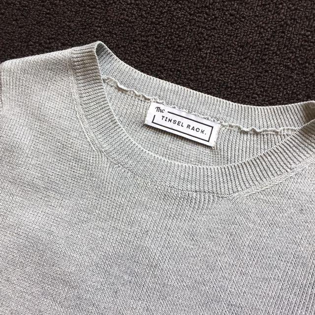 Crop Grey Pullover