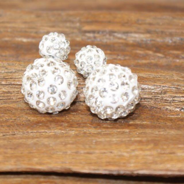Crystal ball Double-Sided earrings