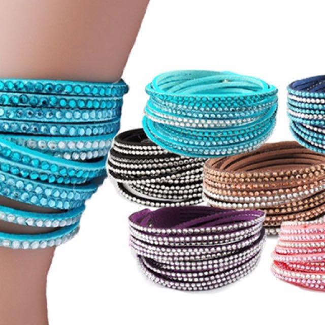 Crystal Wrap around Bracelet