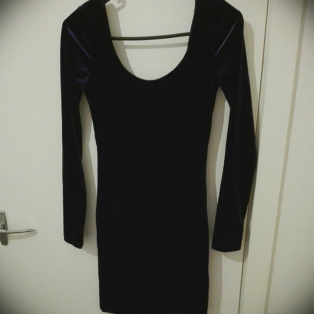 Deep Purple Velvet Dress
