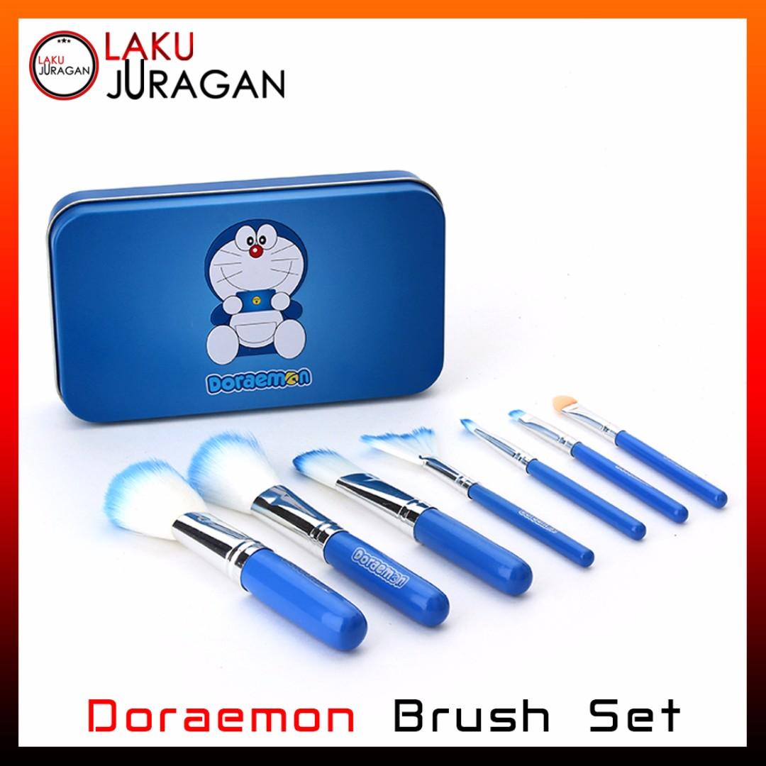 DORAEMON BRUSH KALENG 7 in 1 - Make up brush - Kuas doraemon, Health & Beauty, Makeup on Carousell