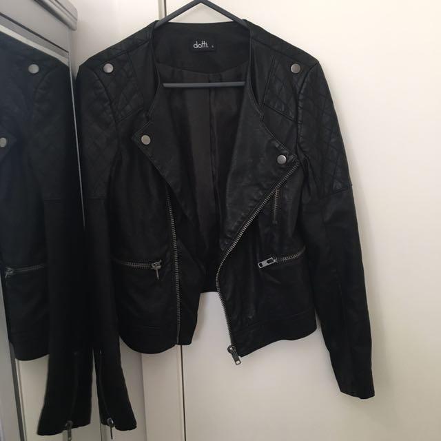 Dotti Black Leather Jacket