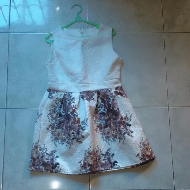 Dress Putih Flower #clearancesale