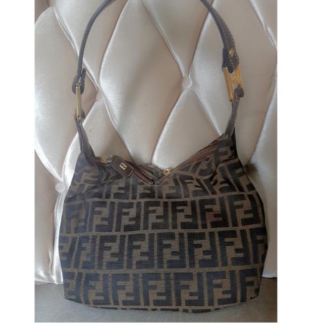 Fendi Canvas Shoulder Bag Vintage