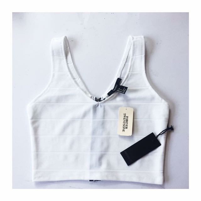 REPRICED 💗 Forever 21 Zip-Up Cropped Cami