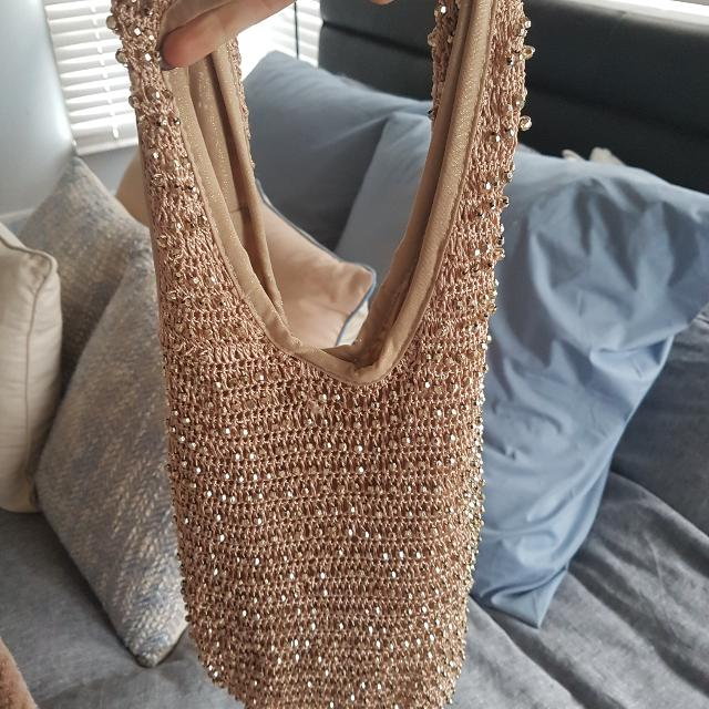 Gold Slouch Bag Forever New