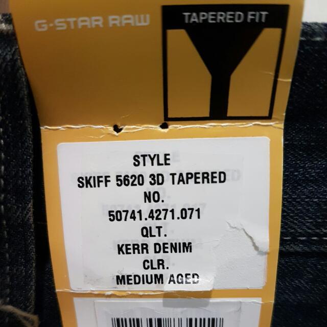 G-Star RAW 5620 3D Tapered Jeans Sz 30 (Medium Aged)