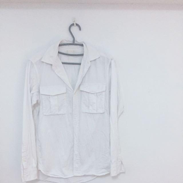 GU男版白色襯衫