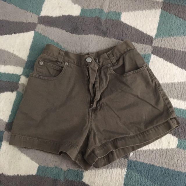 High Waisted Olive Shorts