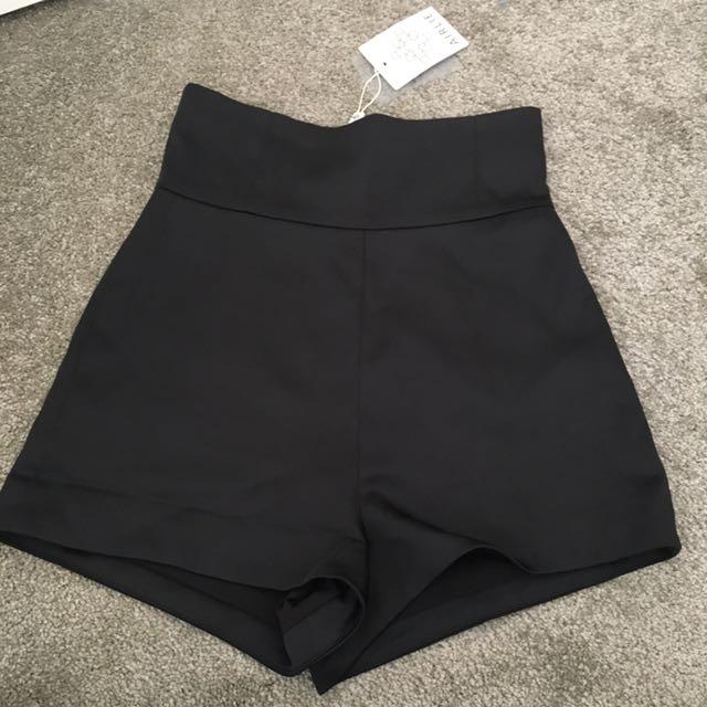 ICONIC Black High Waisted Shorts
