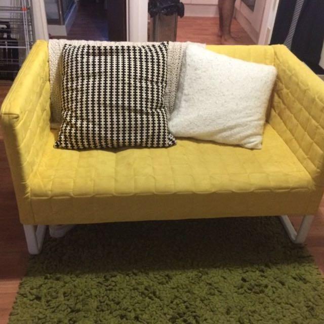 Ikea Knopparp 2 Seat Sofa Yellow Home Furniture On Carou