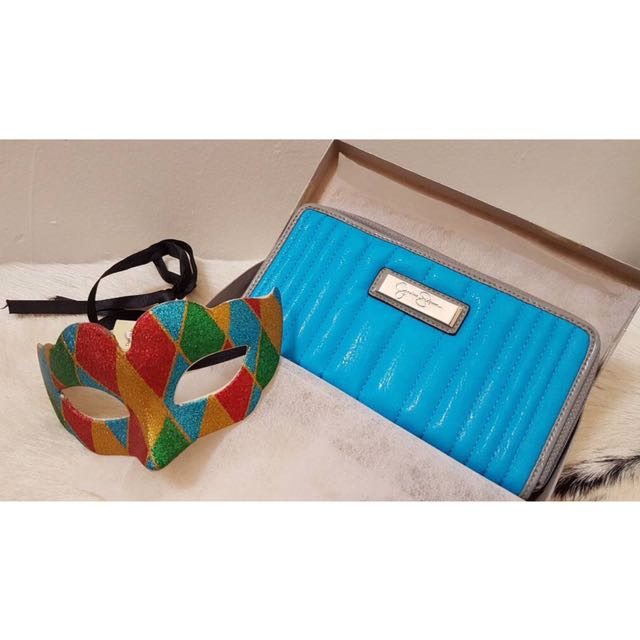 Jessica Simpson Blue Wallet Authentic