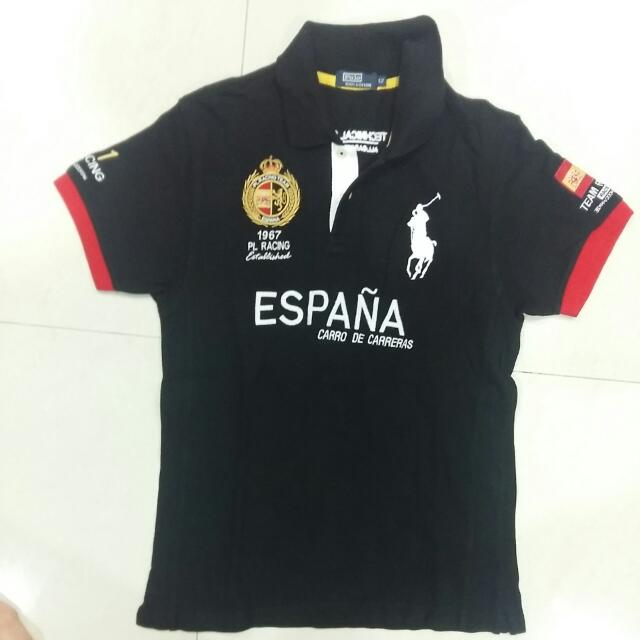 Kaos Polo Racing Hitam