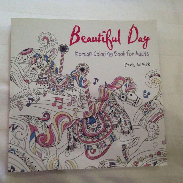 Korean Coloring Book For Adult