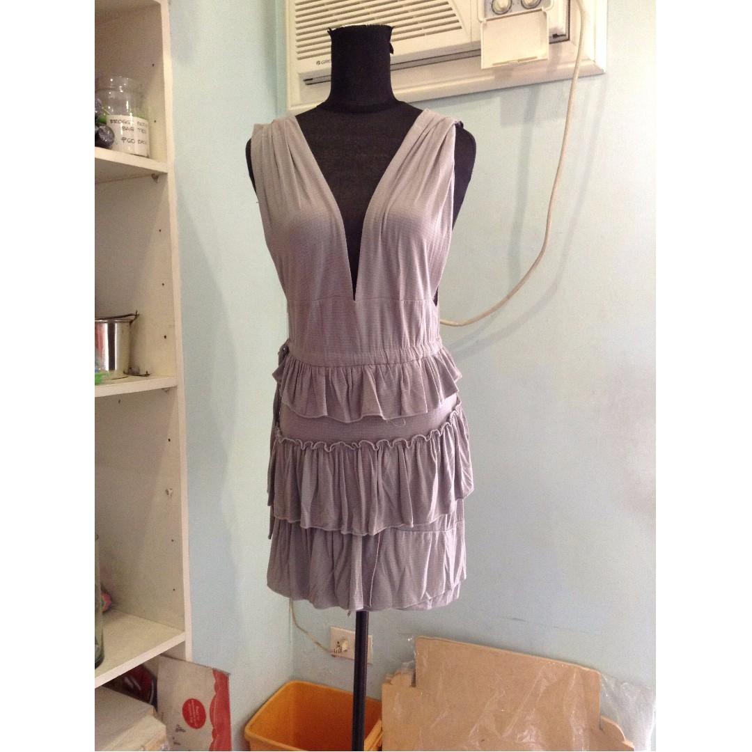 Layered Light Gray Dress