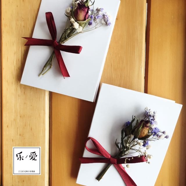樂愛L'e Love純潔熱愛迷你玫瑰乾燥花小卡片