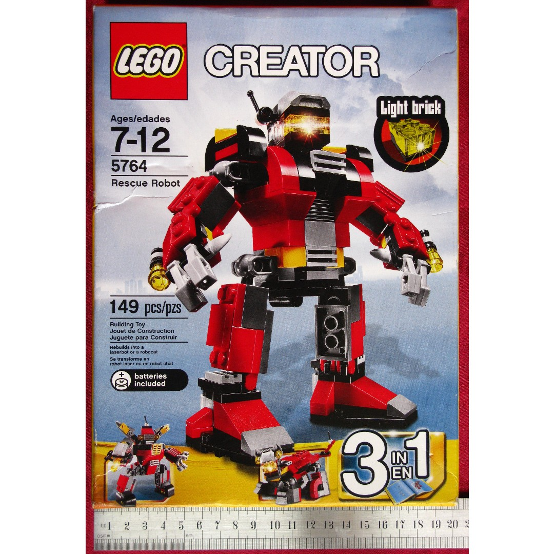 Bnib Lego Creator 5764 3 In 1 Rescue Robot With Light Brick Toys