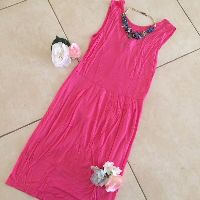 Mango Daring Pink Dress