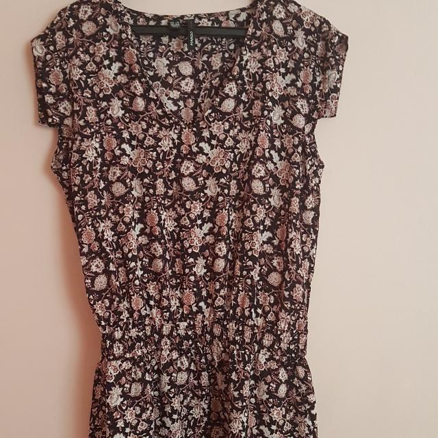 Mango Floral Short Dress Euro Size XS