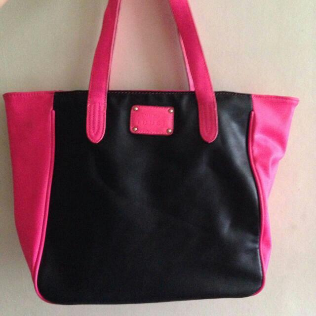 Mango Touch Pink And Black Bag Free Shipping For MM