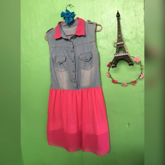 Maong Top Dress