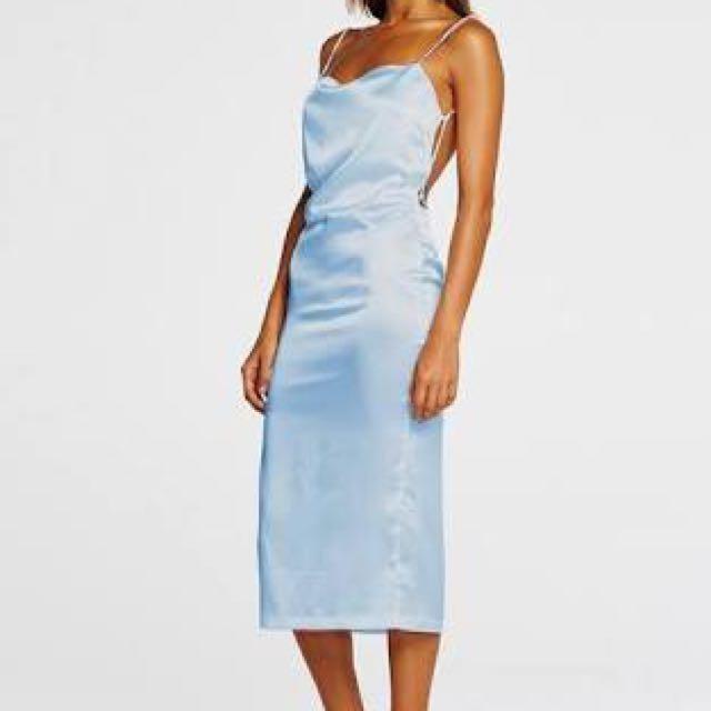 MAURIE AND EVE BLUE SILK DRESS