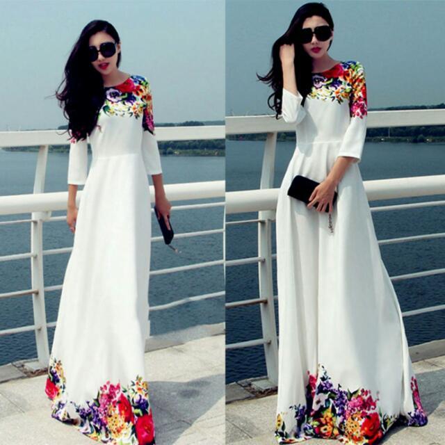 Maxi dress flower design