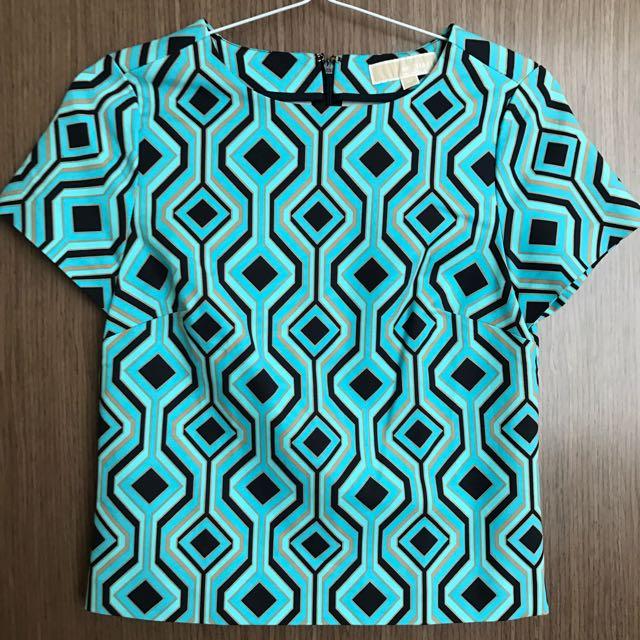 Michael Kors Blue-Green Top XS