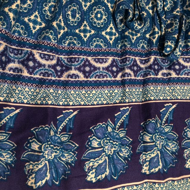 Mink Pink Blue Print Short Dress / Tunic