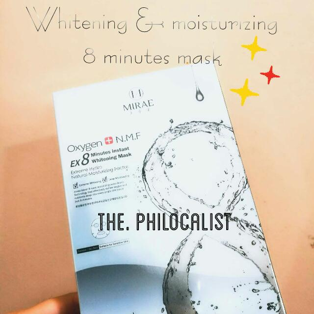 ❤FREE 1 Piece❤ MIRAE 8 minute WHITENING & HYDRATING mask
