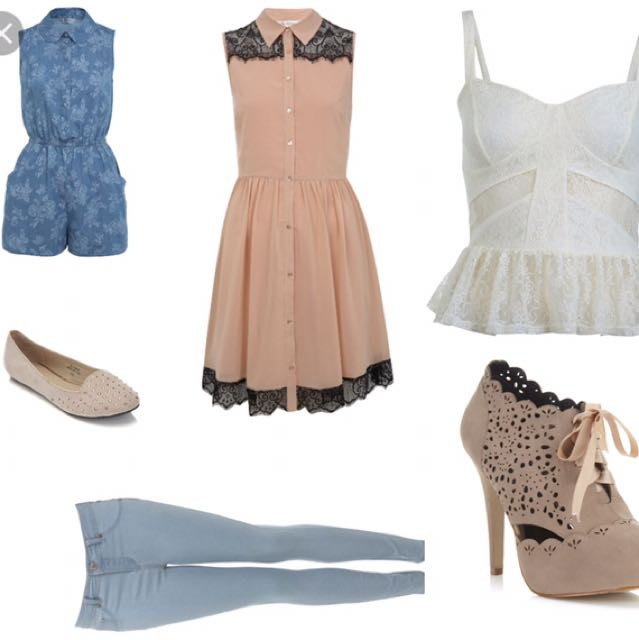 Miss Selfridge Nude Dress