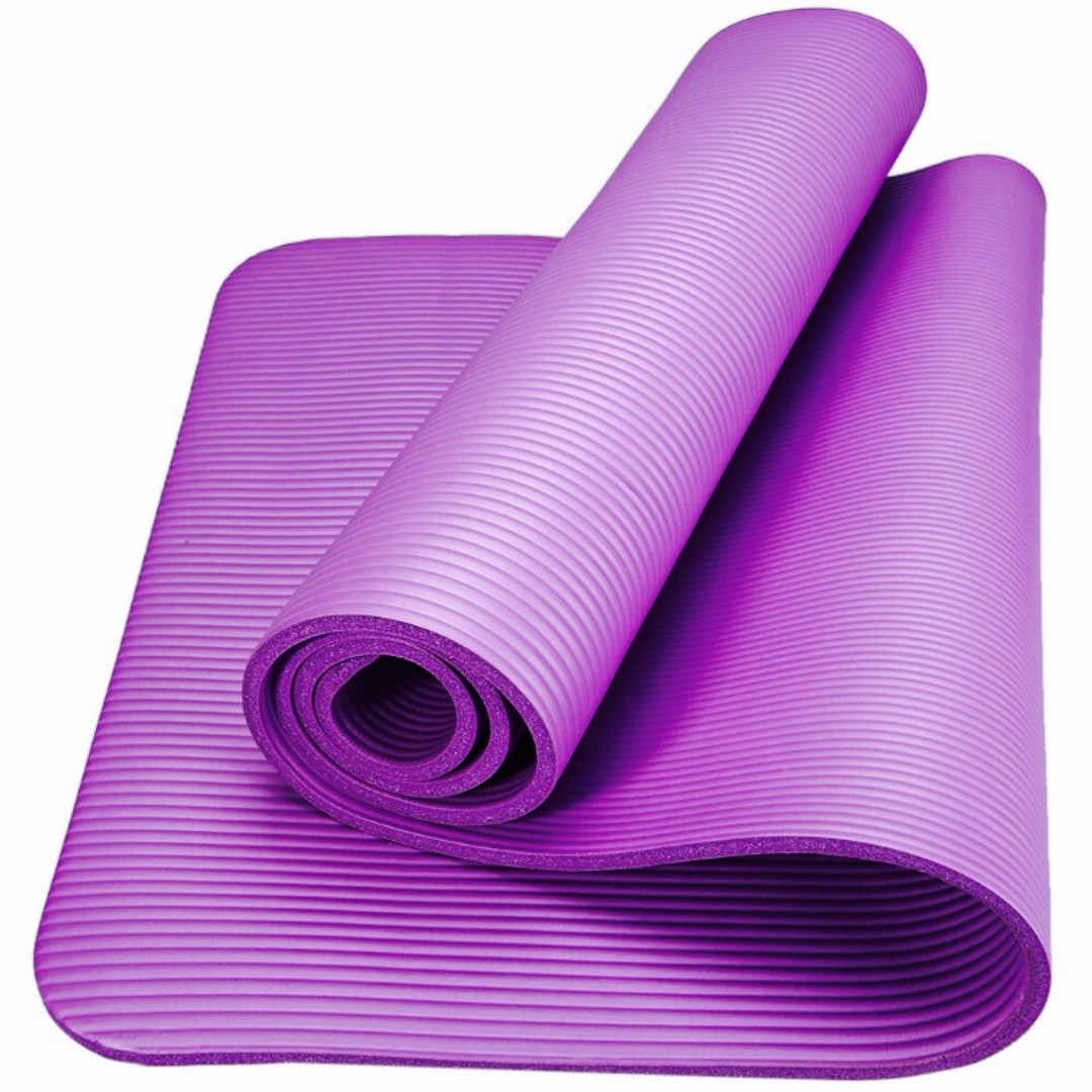 thickening mats yoga fitness mat slip new ennjoi exercise slim pad sku thickness printing nonslip tasteless design non purple p