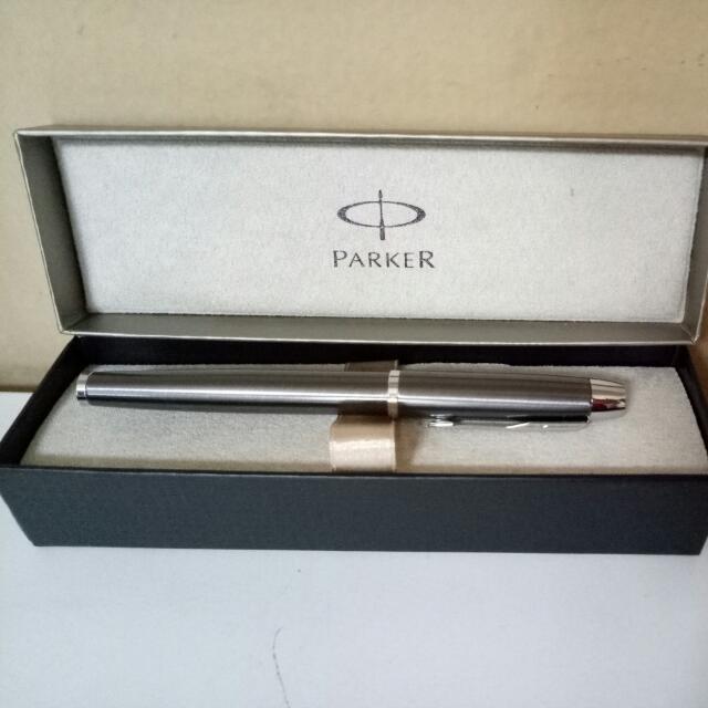 [NEW] Parker IM Silver Pen + 2 Refill
