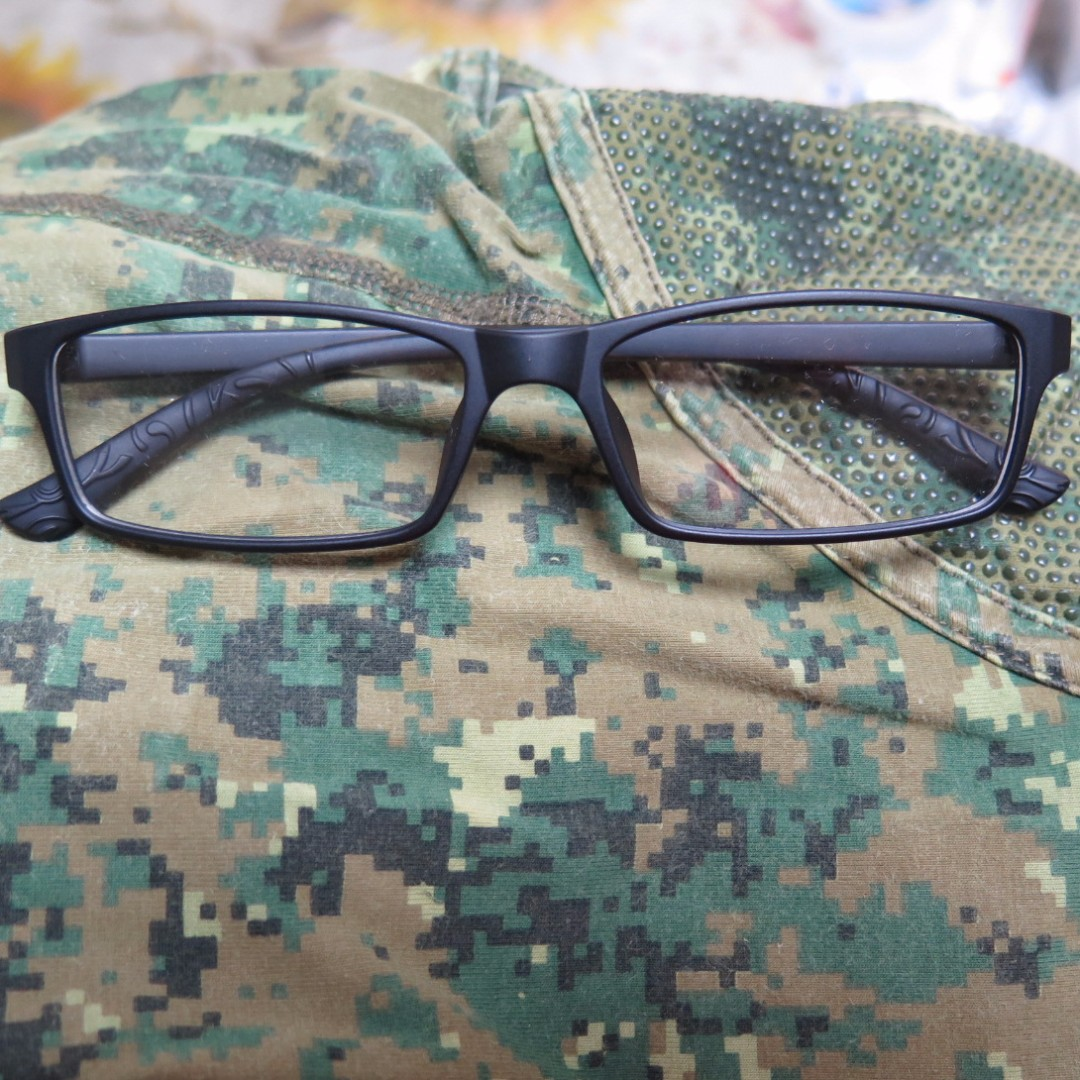 NS50 NS Spectacles Army TR90 2 Year Warranty 8.6g Durable Light Flexible MINDEF MHA