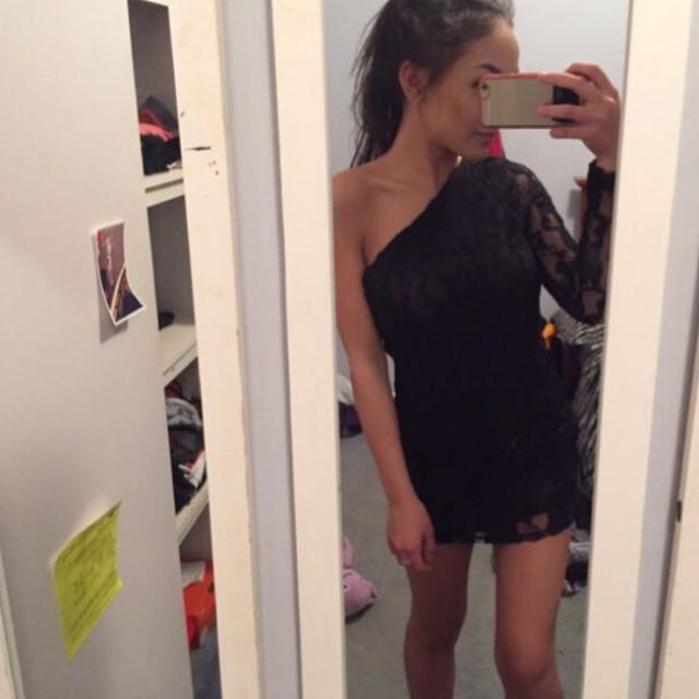 One Sleeve Lace Dress